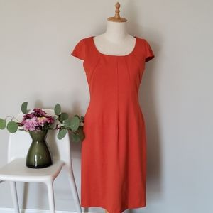 Tahari Burnt Orange Dress